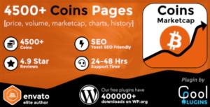 Download free Coins MarketCap v3.9.1 – WordPress Cryptocurrency Plugin