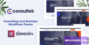 Download free Consultek v1.0.4 – Consulting Business WordPress Theme