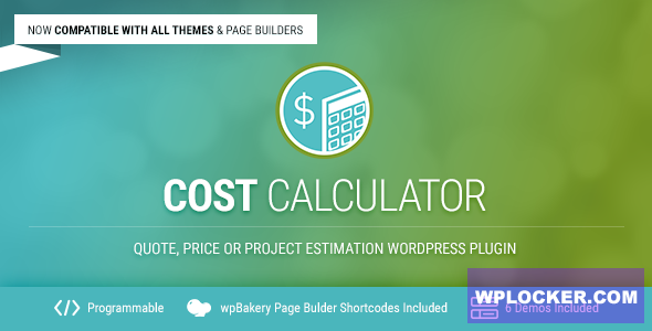 Download free Cost Calculator v2.3.2 – WordPress Plugin