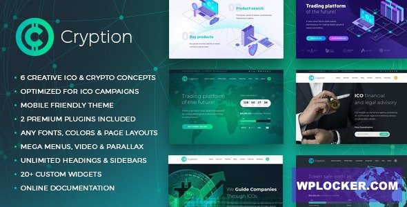 Download free Cryption v1.0.6.1 – ICO, Cryptocurrency & Blockchain WordPress Theme