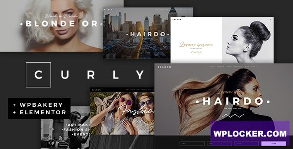 Download free Curly v2.0 – A Stylish Theme for Hairdressers and Hair Salons