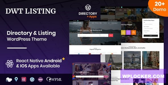 Download free DWT v3.1.5 – Directory & Listing WordPress Theme