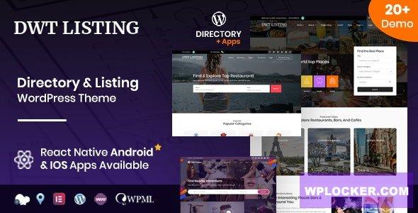 Download free DWT v3.1.5 – Directory & Listing WordPress Theme