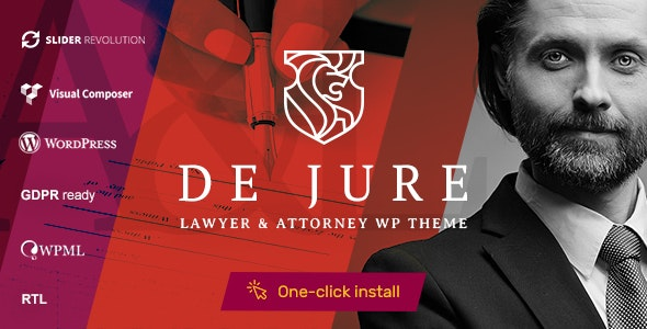 Download free De Jure v1.1.0 – Attorney and Lawyer WP Theme