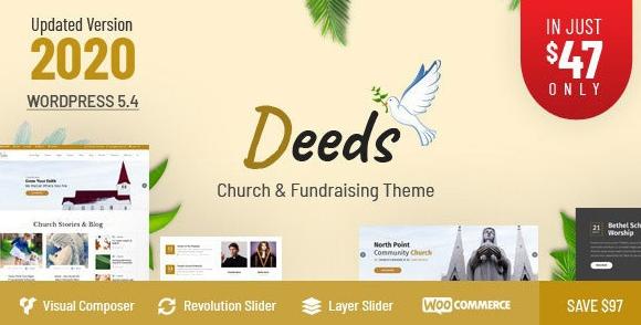 Download free Deeds v7.6 – Best Responsive Nonprofit Church WordPress Theme