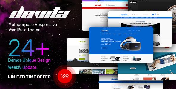 Download free Devita v1.6.8 – Multipurpose Theme for WooCommerce