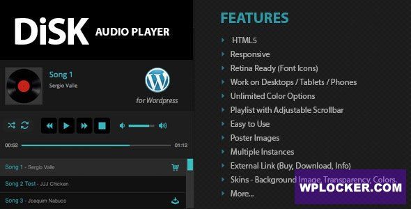 Download free Disk Audio Player For WordPress v2.7