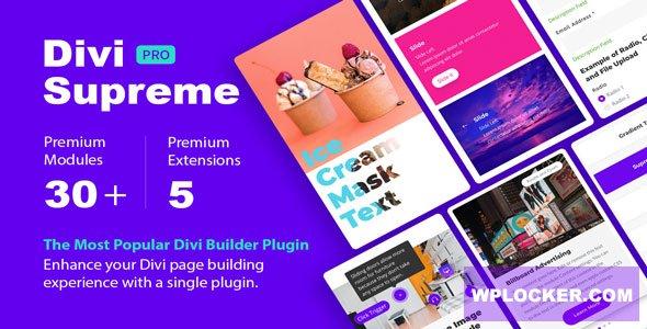 Download free Divi Supreme Pro v3.4.8