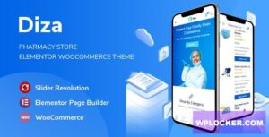 Download free Diza v1.0.1 – Pharmacy Store Elementor WooCommerce Theme