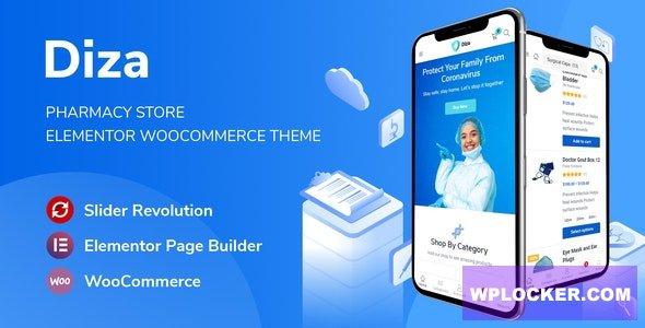 Download free Diza v1.0.1 – Pharmacy Store Elementor WooCommerce Theme