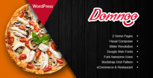 Download free Domnoo v1.24 – Pizza & Restaurant WordPress Theme