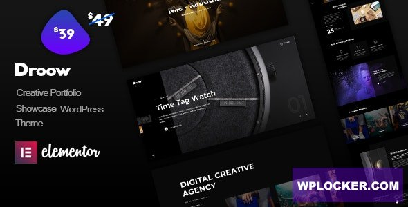 Download free Droow v1.0.3 – Ajax Portfolio WordPress Theme