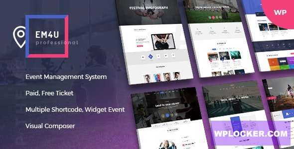 Download free EM4U v1.3.5 – Events WordPress Theme for Booking Tickets