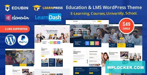 Download free Edubin v6.2.4 – Education LMS WordPress Theme