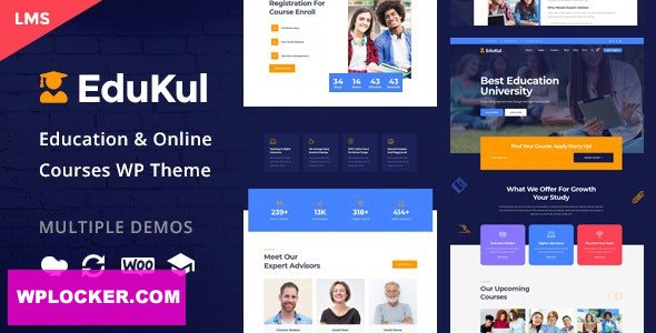 Download free Edukul v1.7 – Online Courses WordPress Theme