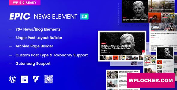 Download free Epic News Elements v2.2.8