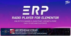 Download free Erplayer v1.0.6 – Radio Player for Elementor