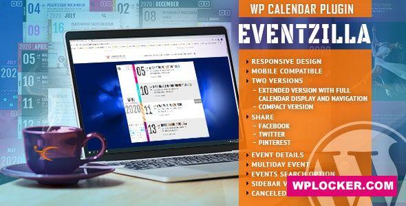 Download free EventZilla v1.2.2 – Event Calendar WordPress Plugin