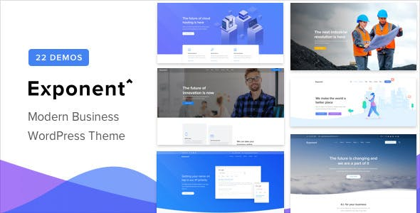 Download free Exponent v1.2.8.6 – Modern Multi-Purpose Business Theme