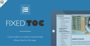 Download free Fixed TOC v3.1.19 – table of contents for WordPress plugin