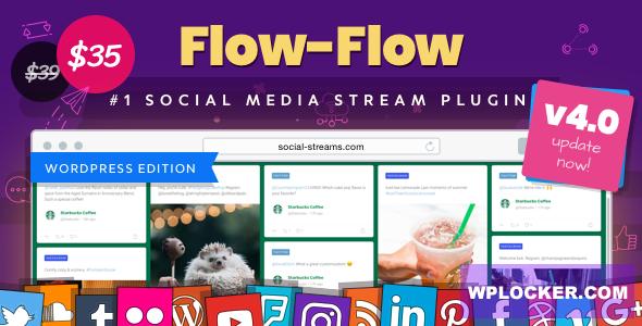 Download free Flow-Flow v4.6.4 – WordPress Social Stream Plugin