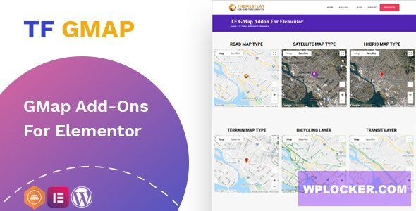 Download free Google Maps addon v1.0.0 – widget for Elementor