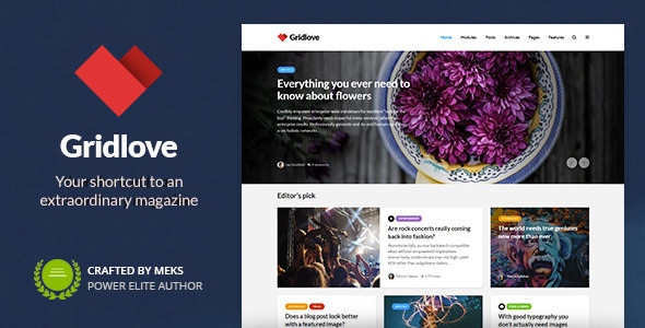 Download free Gridlove v1.9.7 – Creative Grid Style News & Magazine