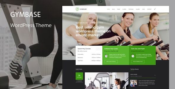 Download free GymBase v13.7 – Responsive Gym Fitness WordPress Theme