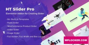Download free HT Slider Pro For Elementor v1.0.3
