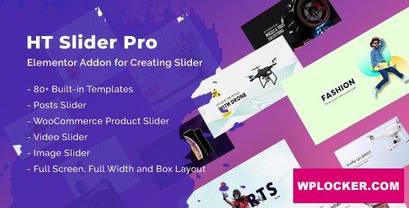 Download free HT Slider Pro For Elementor v1.0.3