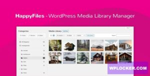 Download free Happy Files Pro v1.1.1 – Organize Your WordPress Media Files