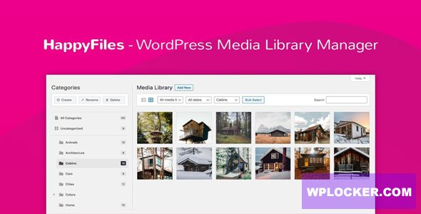 Download free Happy Files Pro v1.1.1 – Organize Your WordPress Media Files