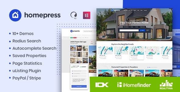 Download free HomePress v1.2.3 – Real Estate WordPress Theme