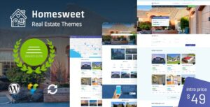 Download free HomeSweet v1.5 – Real Estate WordPress Theme