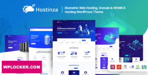 Download free Hostinza v2.1 – Isometric Domain & Whmcs Web Hosting WordPress Theme
