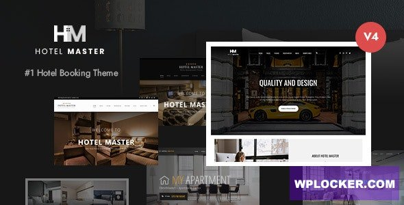 Download free Hotel Master v4.1.0 – Hotel Booking WordPress Theme