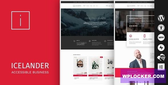 Download free Icelander v1.5.4 – Accessible Business Portfolio & WooCommerce WordPress Theme