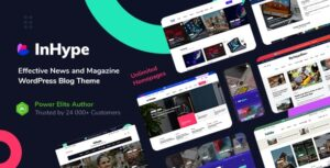 Download free InHype v1.2 – Blog & Magazine WordPress Theme