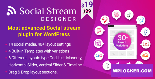 Download free Instagram Facebook Twitter Feed v1.1.3 – Advanced WordPress Social media Feed Grid Gallery Plugin