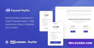 Download free Jeg Paypal Paywall & Content Subscriptions System v1.0.1 – WooCommerce Plugin