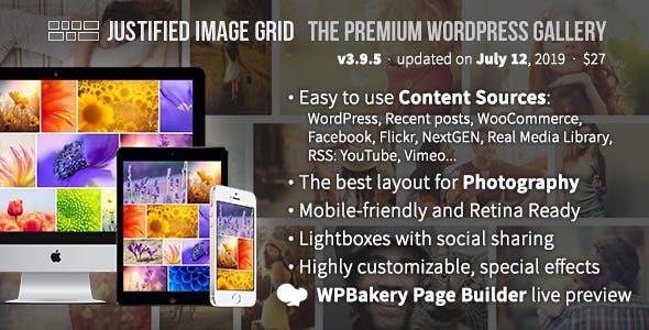 Download free Justified Image Grid v4.0.1 – Premium WordPress Gallery