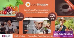 Download free Justshoppe v11.0 – Elementor Cake Bakery WordPress Theme