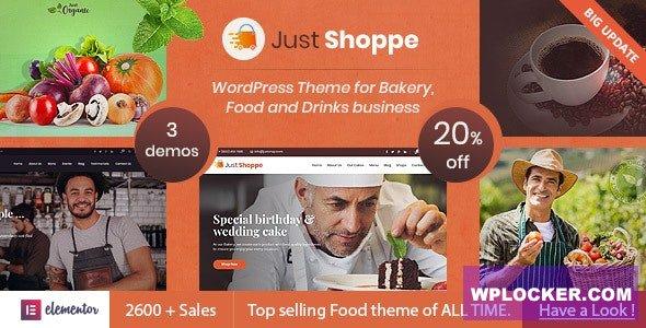Download free Justshoppe v11.0 – Elementor Cake Bakery WordPress Theme