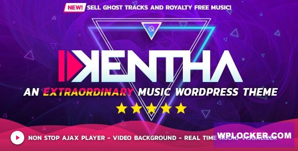 Download free Kentha v2.2.4 – Non-Stop Music WordPress Theme with Ajax