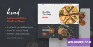 Download free Koad v1.0 – Restaurant & Bistro WordPress Theme