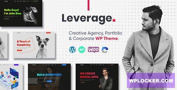 Download free Leverage v1.0.3 – Creative Agency & Portfolio WordPress Theme