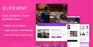 Download free Lifevent v1.0.2 – Conference WordPress Theme