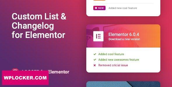 Download free Logger v1.0.3 – Changelog & Custom List for Elementor