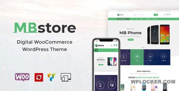Download free MBStore v1.7 – Digital WooCommerce WordPress Theme