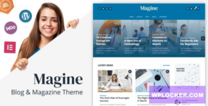 Download free Magine v1.1 – Business Blog WordPress Theme